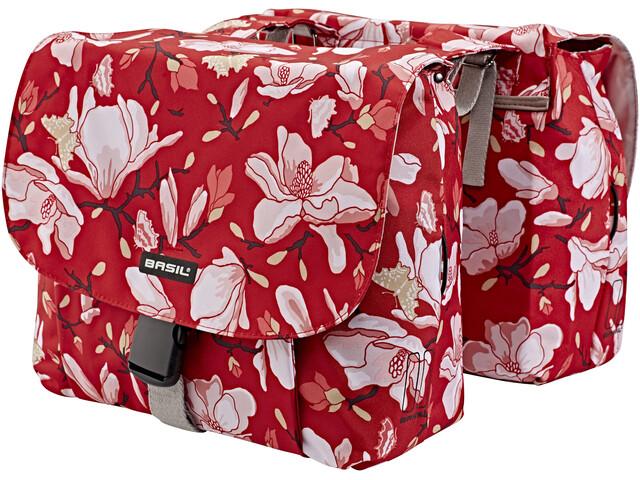 Basil Magnolia S Gepäckträger Doppel-Tasche 25l poppy red